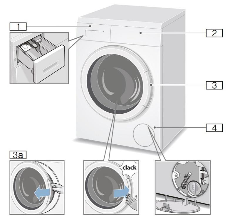partes lavadora Bosch Serie 6 WUQ24468ES