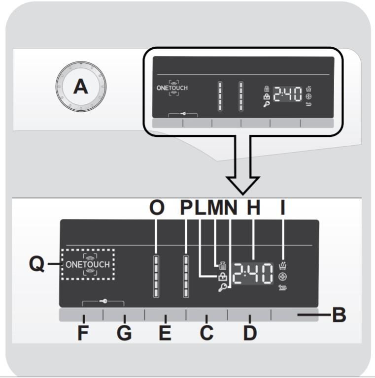 panel de control DXOA 510AC3 hoover